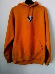 Newent Runners Orange Hoody Front