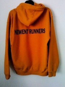 Newent Runners Orange Hoody Rear